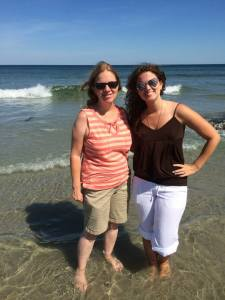 Wells Beach, ME with my beautiful momma