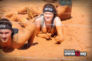 The Spartan Sprint in March...I was so out of shape!